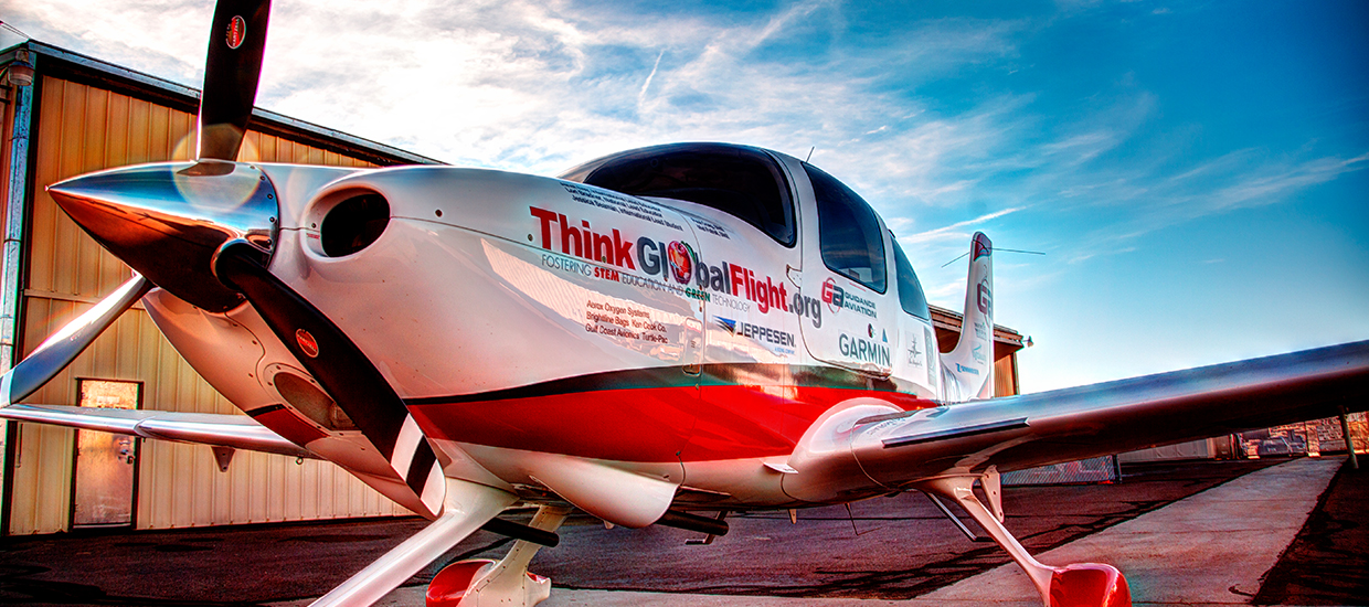 Cirrus, think global flight, airplane