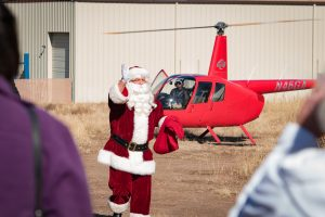 Guidance Aviation Helicopter Escorts Santa Claus to YEI